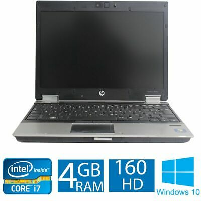 Core i7 HP EliteBook 2540p Laptop. 2.13GHZ, 4GB, 160GB, Windows 10.