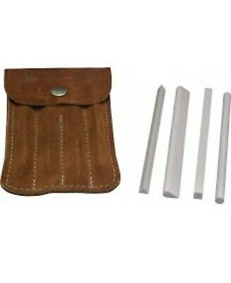 Brand New Set of Four SpyderCo Sharpening Stones SPY-400F c/w Suede Wallet