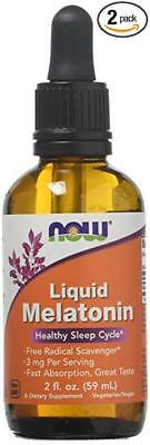 Now Foods Liquid Melatonin 3 mg - 2 oz (2 Pack) fuer einen besseren Schlaf