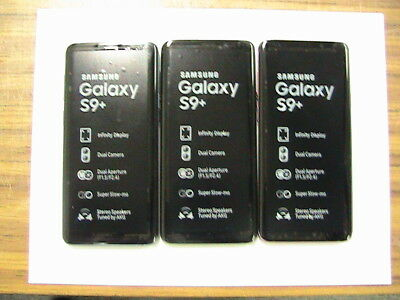 Samsung Galaxy S9+PLUS G965U  64GB  AT&TGSM UNLOCKED Blue Purple Black