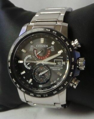 Citizen Eco-Drive Solar Radio Controlled World Time Watch AT9071-58E 44mm