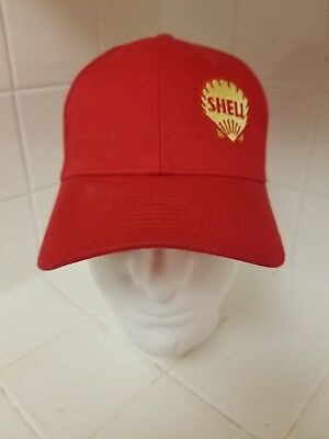 Vintage Style Shell Truck Stop Store Gas Oil Trucker Hat Snapback Red    Yellow 962adfe1a857