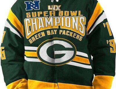 Green Bay Packers Nfl 4 Time Superbowl Champion Commemorative Twill Jacket   150 5bd95dca2