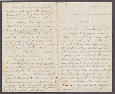 Civil War Soldier Ltr William W. Fish 11th NH Wounded POW Camp Chase Alex Va 62