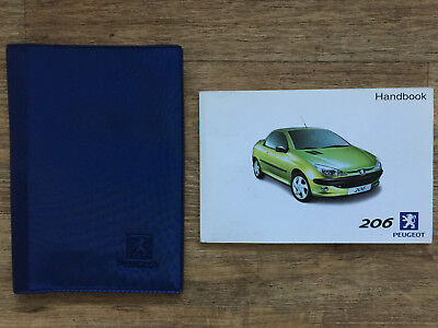 peugeot 206 cc coupe cabriolet owners manual handbook guide + case