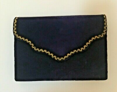 cd4d2c4ce5bb YSL Yves Saint Laurent Vintage Purple Velvet Clutch with Gold embroidery