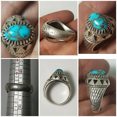 Very lovely amyzing  neishapuri shajari tourquize disc pure silver ring