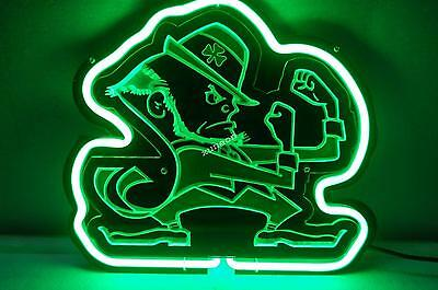 Notre Dame Fighting Irish 3D Carved Neon Sign Beer Bar Light [FAST FREE SHIPING]