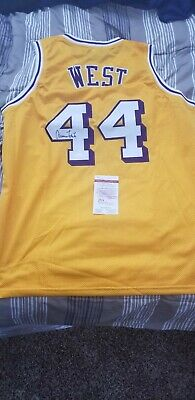 03693817f Los Angeles Lakers Jerry West Signed autographed Yellow Custom Jersey Jsa  Coa!