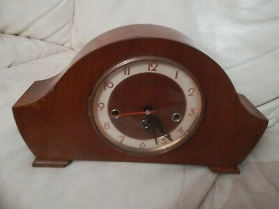 Vintage Wooden Bentima Mantle Clock  8-day with modern movement