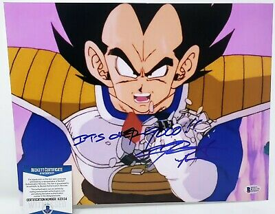 Chris Sabat signed 11x14 photo Dragon Ball Z Super Vegeta Its Over 9000! Beckett