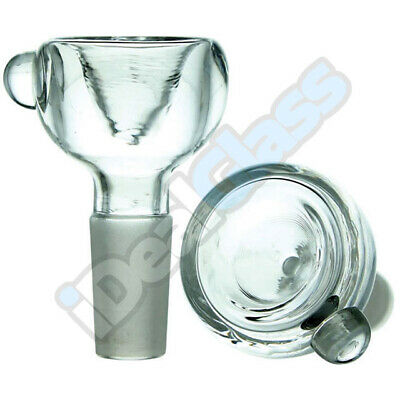 Clear Glass on Glass Slide Bowl ( Small Personal Snapper ) Bubble Style 9.5-18mm