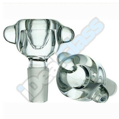 Clear Super Heavy Thick Glass on Glass Slide Bowl Small Personal Bubble 14-18mm