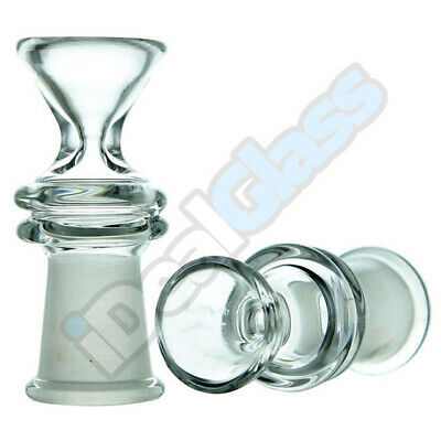 Clear Reverse Thick Glass on Glass Slide Bowl Small Funnel w Maria 14-18mm