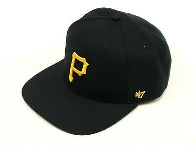 cheaper d2958 02d3d Pittsburgh Pirates  47 Brand MLB Adjustable Snapback Youth Logo Cap Hat  Black