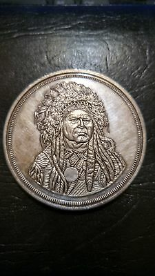 Running Antelope The Silver Chief 5 Oz Troy .999 Fine Silver Cleaned Vintage