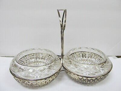 Sterling Silver Frame Holder # 2786 Glass Bowls Sauces / Dips Xlnt Cond