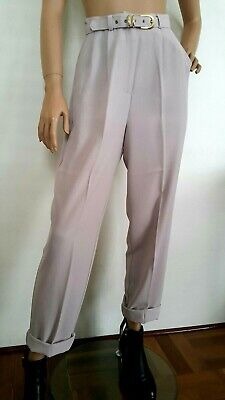 Vintage Retro High waisted pants Matching Belt Dusty Pink Size 10 Free shipping