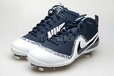 separation shoes f470b 37615 Nike Mens Sz 10.5 Force Zoom Trout 4 Navy White Baseball Metal Cleats 917837  441