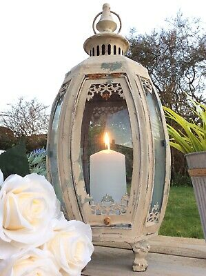Antique French Vintage Style Large Garden Lantern Candle Holder Home Garden Chic