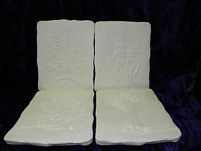 Ceramic Ready to paint 4 x Herb  Plaque 9 ""