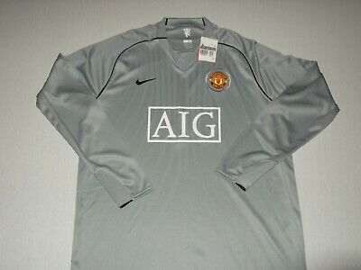 f036617b5 Manchester United 2007/08 Player Issue / Spec Grey Goalkeeper Football Shirt  L/S