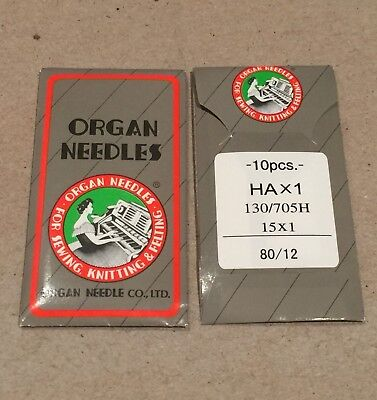 ORGAN UNIVERSAL SEWING MACHINE NEEDLES 80/12- 10 PCS(Please Read Delivery Info)