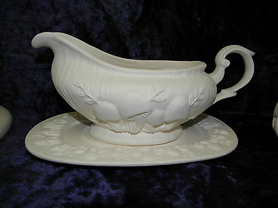 Ceramic Ready to Paint Bisque Mushroom Gravy boat and tray
