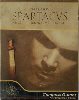Compass Games Spartacus Crisis in the Roman Republic 80-71 BC ***MINT***RARE***