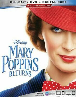 Mary Poppins Returns Blu-ray/DVD/Digital NEW Emily Blunt, Lin-Manuel Miranda