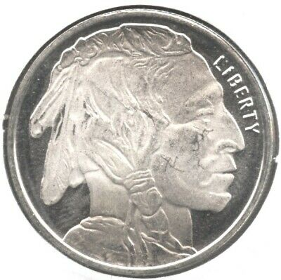 Native American Indian .999 Silver Art Medal 1/2 oz Round - Buffalo Bison BA258