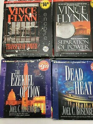 Lot: 4 VINCE FLYNN JOEL ROSENBERG Political Action Thriller AUDIO BOOKS CD