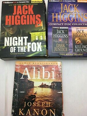 Lot: 4 JACK HIGGINS Joseph Kanon Historical Crime Thriller AUDIO BOOKS CD