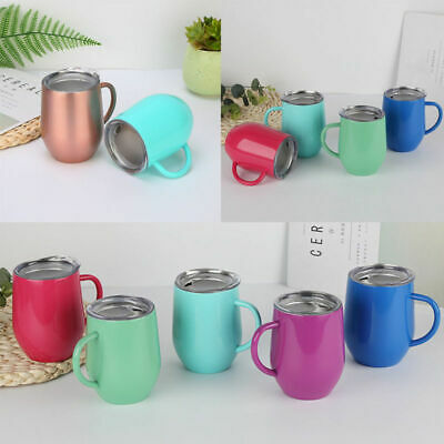 Coffee Mug Double Wall Stainless Steel Cup Travel Insulated Tumbler Faddish