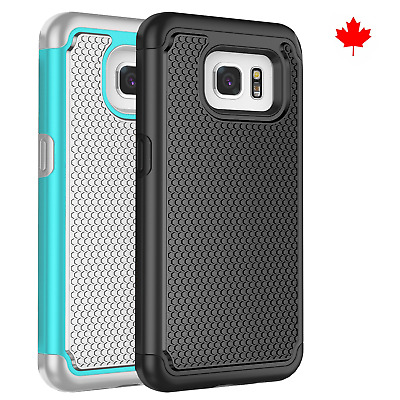 Fits Samsung Galaxy S7 Edge Case Shockproof Rugged Rubber Hybrid Impact Cover