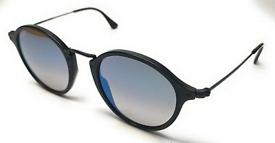 54d359fa38 Ray Ban Rb 2447 901 4O Black Blue Gradient Lenses Sunglasses Authentic 49-21