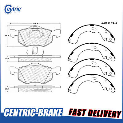 Centric Rear Brake Shoes 1 Set Fits 2001-2002 Ford Escape