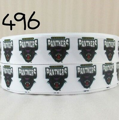 Grosgrain Ribbon Penrith Panthers Rugby (1m, 2m or 5m + bundle)