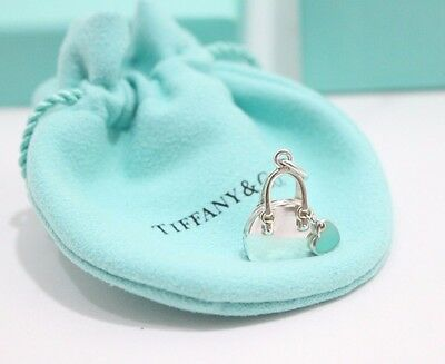 eaaf9e274add Tiffany   Co. Sterling Silver Blue Enamel Handbag Charm