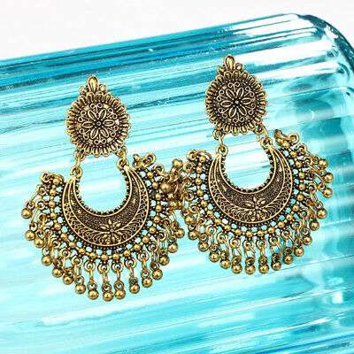 Metal Tassel Jhumka Indian Ethnic Bollywood Dangle Earrings Modish Jewelry