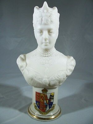 Arcadin Crested China Bust Alexandra of Denmark