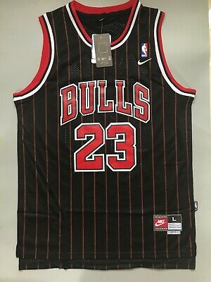 New Men's Michael Jordan Chicago Bulls Striped Throwback Swingman Jersey S M L