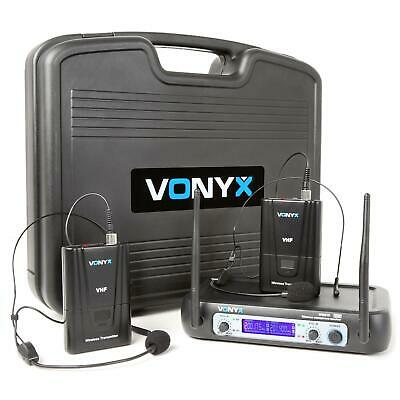 Vonyx WM512H 2-Kanaals VHF Zendsysteem Bodypacks Display