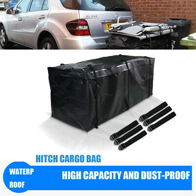 """60"""" Large Waterproof Oxford Fabric Cargo Carrier Hitch Mount Bag Black For Jeep"""