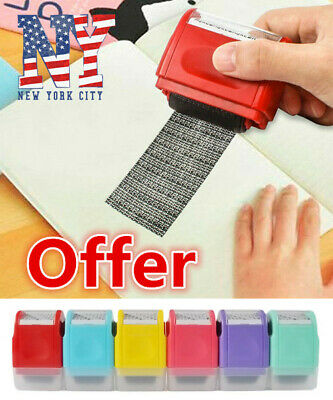 Roller stamp data security protection theft prevention id identity guardrolling