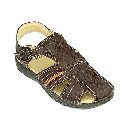 Boys Trendy Brown Leather Sandals Comfortable Kids Shoes - Juniors