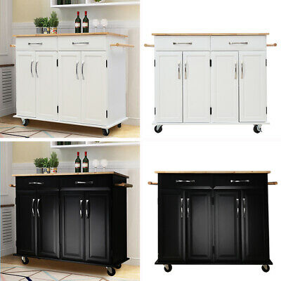 Groovy Rolling Kitchen Trolley Cart Sideboard Buffet Cabinet Storage Dining Furniture Home Remodeling Inspirations Propsscottssportslandcom