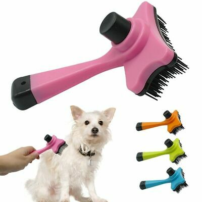 Dog Brush Puppy Hair Fur Grooming Shedding Comb Tool For Long & Short