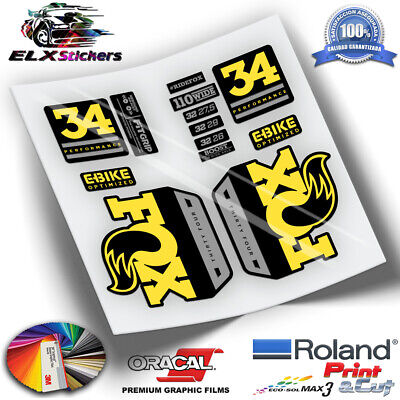 FLUOR STICKERS FOX 32 2016 WP56 PEGATINAS MTB AUFKLEBER DECALS ADESIVI DECALS
