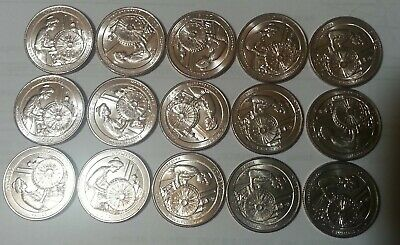 2019 P Lowell Quarters Philadelphia Brilliant Uncirculated X 15  Ships In 1 Day